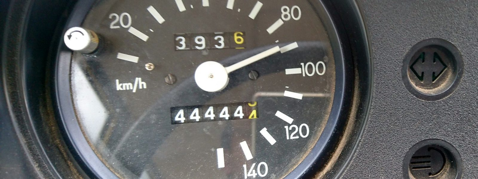 Kilometerstand 44.444,4