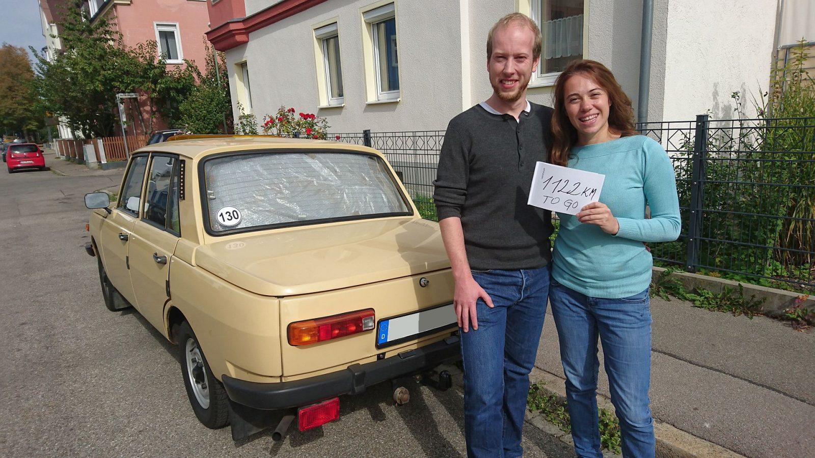 Aufbruch in Augsburg - gute 1.120 km sind noch zu fahren