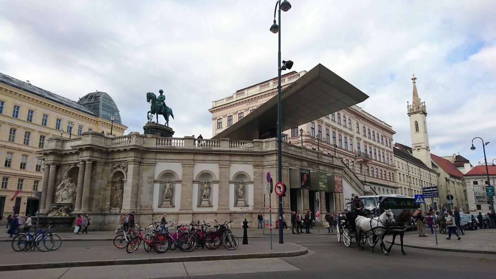 Das Albertina-Kunstmuseum in Wien