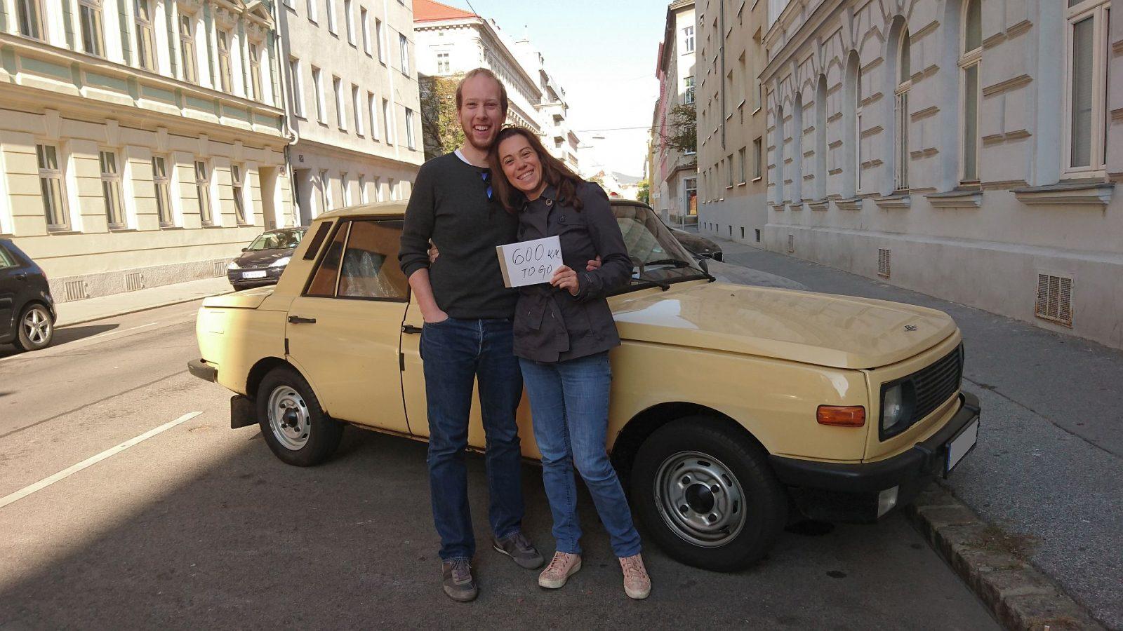 Aufbruch zur letzten Etappe in Wien, nur noch gut 600 km zu fahren