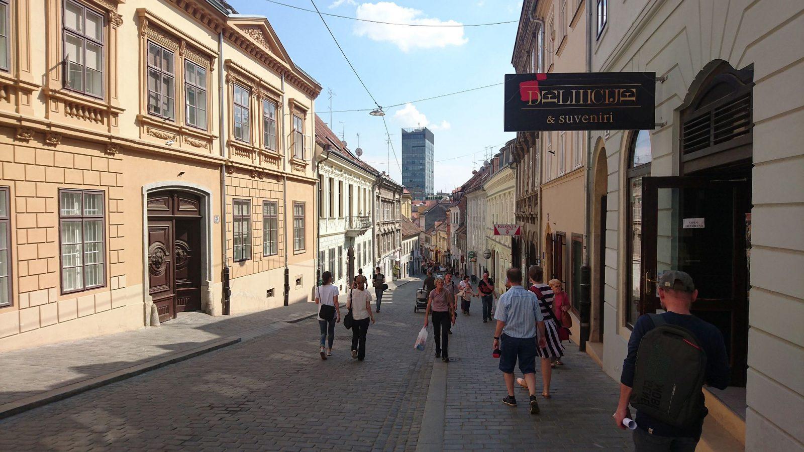 Radićeva Straße mit Blick in Richtung Süden.
