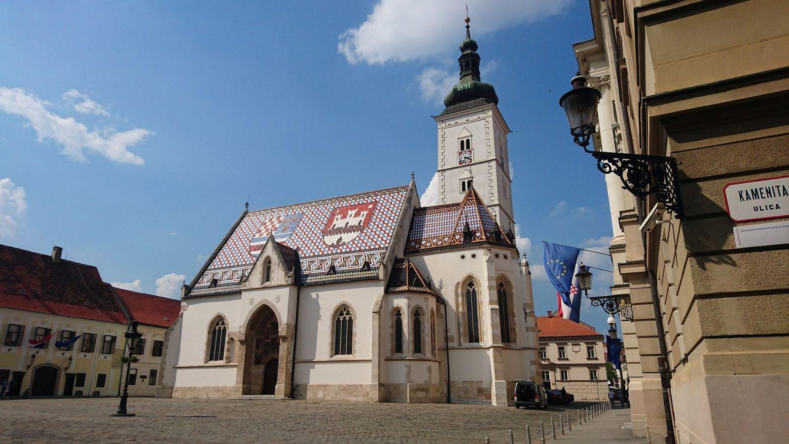 Die St.-Markus-Kirche auf dem gleichnamigen Platz.